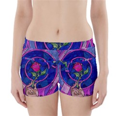 Enchanted Rose Stained Glass Boyleg Bikini Wrap Bottoms