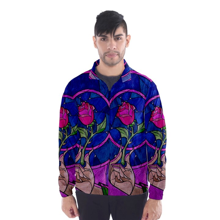 Enchanted Rose Stained Glass Wind Breaker (Men)