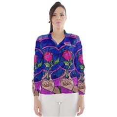 Enchanted Rose Stained Glass Wind Breaker (Women)