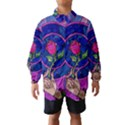 Enchanted Rose Stained Glass Wind Breaker (Kids) View1