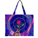 Enchanted Rose Stained Glass Large Tote Bag View1