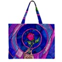 Enchanted Rose Stained Glass Large Tote Bag View2