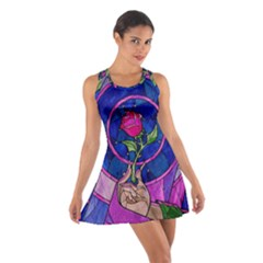 Enchanted Rose Stained Glass Cotton Racerback Dress