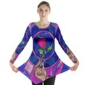 Enchanted Rose Stained Glass Long Sleeve Tunic  View1