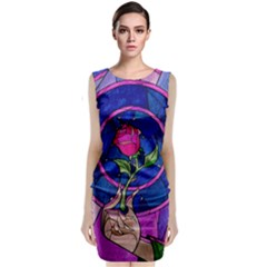 Enchanted Rose Stained Glass Classic Sleeveless Midi Dress