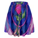 Enchanted Rose Stained Glass High Waist Skirt View2