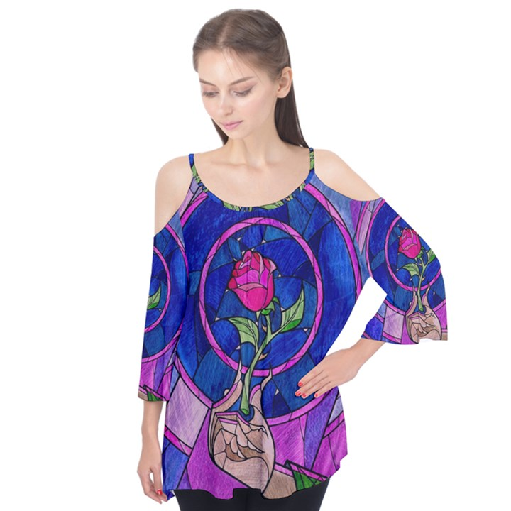 Enchanted Rose Stained Glass Flutter Tees
