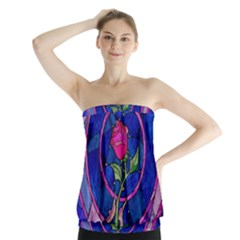 Enchanted Rose Stained Glass Strapless Top