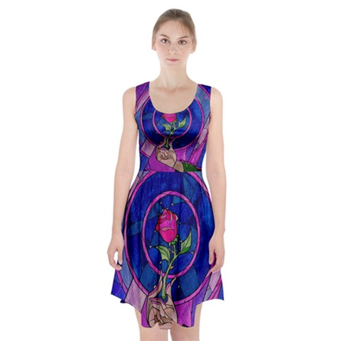Enchanted Rose Stained Glass Racerback Midi Dress