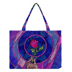 Enchanted Rose Stained Glass Medium Tote Bag