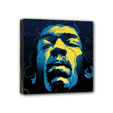 Gabz Jimi Hendrix Voodoo Child Poster Release From Dark Hall Mansion Mini Canvas 4  X 4
