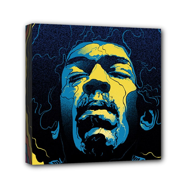 Gabz Jimi Hendrix Voodoo Child Poster Release From Dark Hall Mansion Mini Canvas 6  x 6