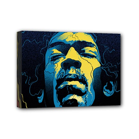 Gabz Jimi Hendrix Voodoo Child Poster Release From Dark Hall Mansion Mini Canvas 7  X 5
