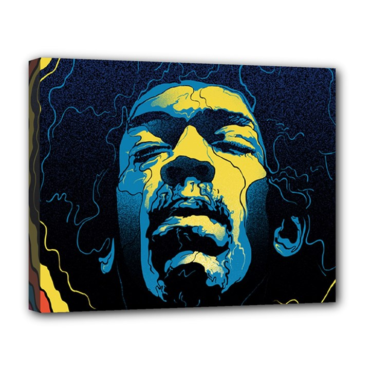 Gabz Jimi Hendrix Voodoo Child Poster Release From Dark Hall Mansion Canvas 14  x 11