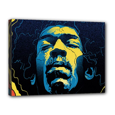 Gabz Jimi Hendrix Voodoo Child Poster Release From Dark Hall Mansion Canvas 16  x 12