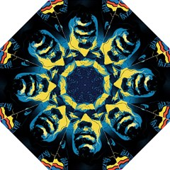 Gabz Jimi Hendrix Voodoo Child Poster Release From Dark Hall Mansion Folding Umbrellas