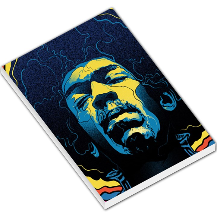 Gabz Jimi Hendrix Voodoo Child Poster Release From Dark Hall Mansion Large Memo Pads