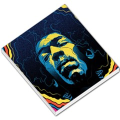 Gabz Jimi Hendrix Voodoo Child Poster Release From Dark Hall Mansion Small Memo Pads