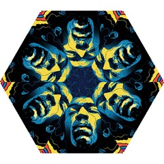 Gabz Jimi Hendrix Voodoo Child Poster Release From Dark Hall Mansion Mini Folding Umbrellas