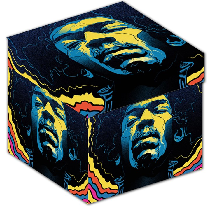 Gabz Jimi Hendrix Voodoo Child Poster Release From Dark Hall Mansion Storage Stool 12