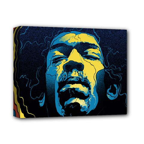 Gabz Jimi Hendrix Voodoo Child Poster Release From Dark Hall Mansion Deluxe Canvas 14  x 11