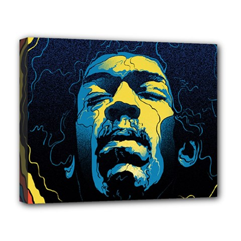 Gabz Jimi Hendrix Voodoo Child Poster Release From Dark Hall Mansion Deluxe Canvas 20  X 16
