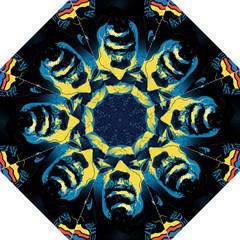 Gabz Jimi Hendrix Voodoo Child Poster Release From Dark Hall Mansion Golf Umbrellas