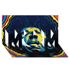 Gabz Jimi Hendrix Voodoo Child Poster Release From Dark Hall Mansion Mom 3d Greeting Card (8x4)