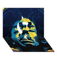 Gabz Jimi Hendrix Voodoo Child Poster Release From Dark Hall Mansion Ribbon 3D Greeting Card (7x5)