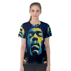 Gabz Jimi Hendrix Voodoo Child Poster Release From Dark Hall Mansion Women s Cotton Tee