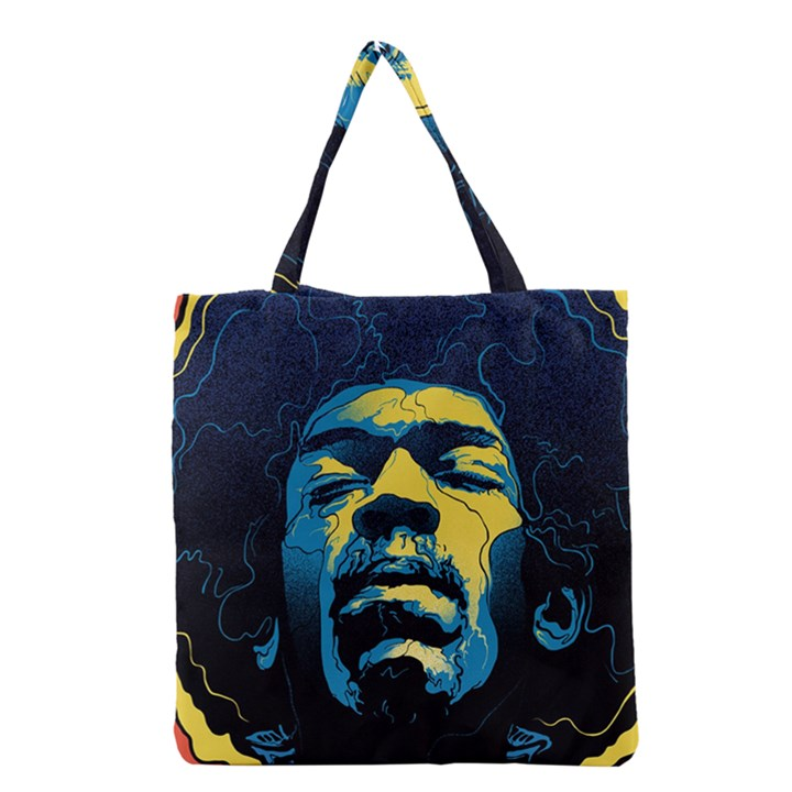 Gabz Jimi Hendrix Voodoo Child Poster Release From Dark Hall Mansion Grocery Tote Bag