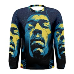 Gabz Jimi Hendrix Voodoo Child Poster Release From Dark Hall Mansion Men s Long Sleeve Tee