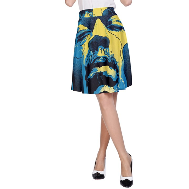 Gabz Jimi Hendrix Voodoo Child Poster Release From Dark Hall Mansion A-Line Skirt