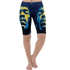 Gabz Jimi Hendrix Voodoo Child Poster Release From Dark Hall Mansion Cropped Leggings