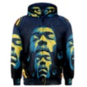 Gabz Jimi Hendrix Voodoo Child Poster Release From Dark Hall Mansion Men s Zipper Hoodie View1