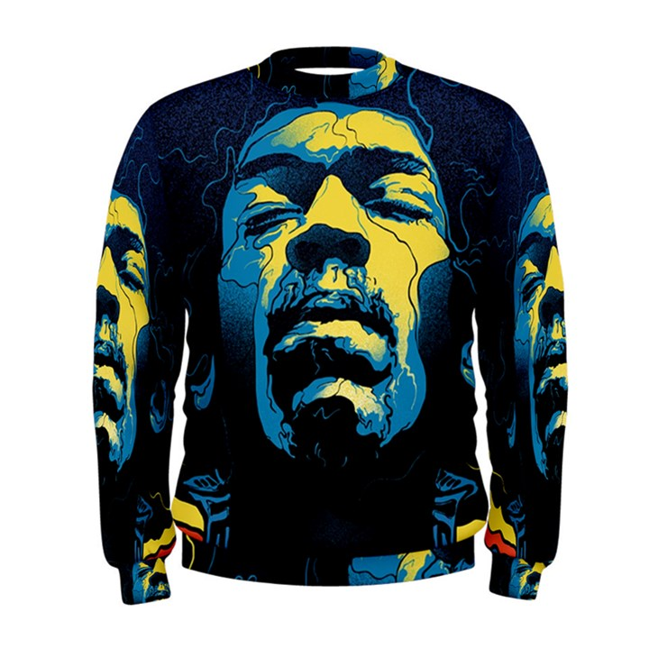 Gabz Jimi Hendrix Voodoo Child Poster Release From Dark Hall Mansion Men s Sweatshirt