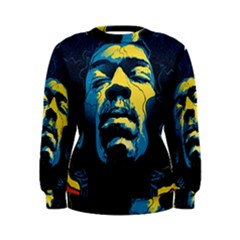 Gabz Jimi Hendrix Voodoo Child Poster Release From Dark Hall Mansion Women s Sweatshirt