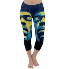 Gabz Jimi Hendrix Voodoo Child Poster Release From Dark Hall Mansion Capri Winter Leggings