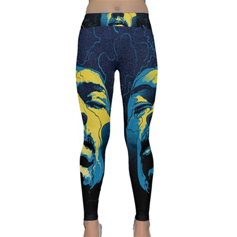 Gabz Jimi Hendrix Voodoo Child Poster Release From Dark Hall Mansion Yoga Leggings