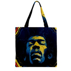 Gabz Jimi Hendrix Voodoo Child Poster Release From Dark Hall Mansion Zipper Grocery Tote Bag