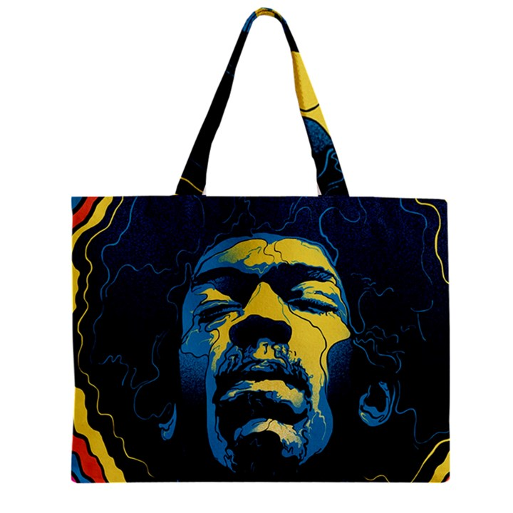 Gabz Jimi Hendrix Voodoo Child Poster Release From Dark Hall Mansion Zipper Mini Tote Bag