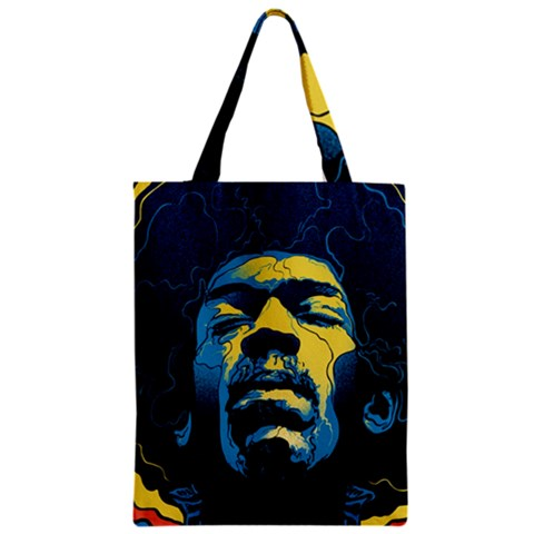Gabz Jimi Hendrix Voodoo Child Poster Release From Dark Hall Mansion Zipper Classic Tote Bag