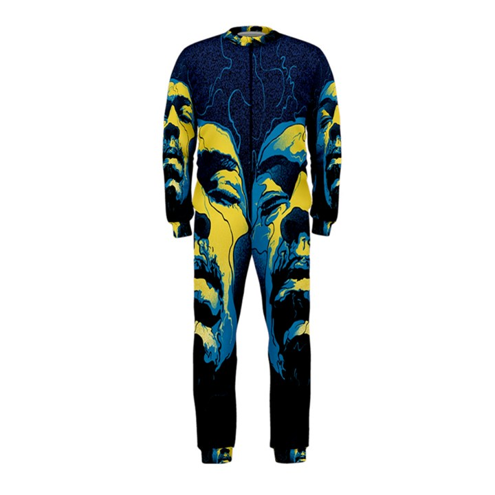 Gabz Jimi Hendrix Voodoo Child Poster Release From Dark Hall Mansion OnePiece Jumpsuit (Kids)