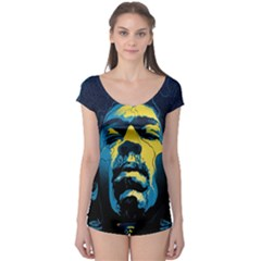 Gabz Jimi Hendrix Voodoo Child Poster Release From Dark Hall Mansion Boyleg Leotard