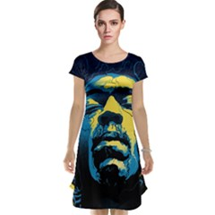 Gabz Jimi Hendrix Voodoo Child Poster Release From Dark Hall Mansion Cap Sleeve Nightdress