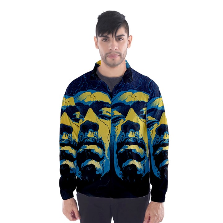 Gabz Jimi Hendrix Voodoo Child Poster Release From Dark Hall Mansion Wind Breaker (Men)