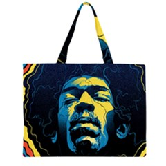 Gabz Jimi Hendrix Voodoo Child Poster Release From Dark Hall Mansion Large Tote Bag