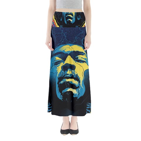Gabz Jimi Hendrix Voodoo Child Poster Release From Dark Hall Mansion Maxi Skirts