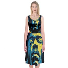 Gabz Jimi Hendrix Voodoo Child Poster Release From Dark Hall Mansion Midi Sleeveless Dress