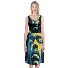 Gabz Jimi Hendrix Voodoo Child Poster Release From Dark Hall Mansion Midi Sleeveless Dress